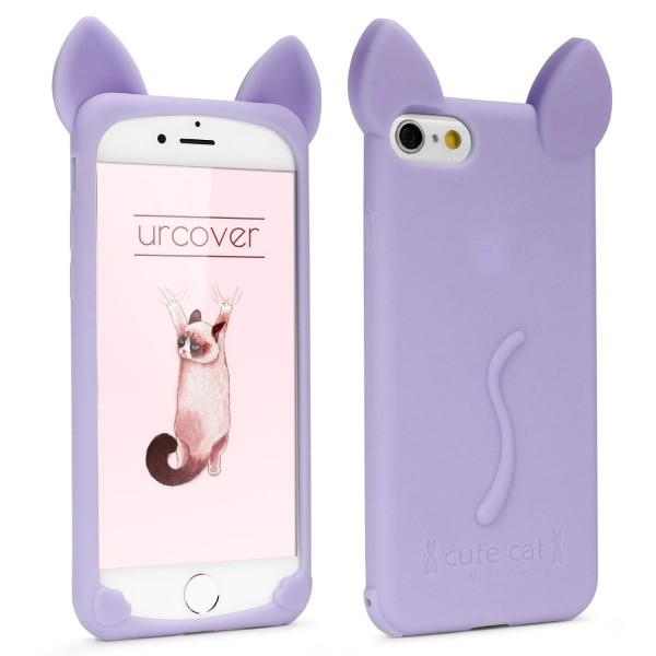 Apple iPhone 6 / 6s Schutz Hülle Süße Katzen Ohren Cover Cat Ear Case Schlaufe