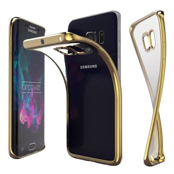 Samsung Galaxy S6 Edge Hülle Spiegelrand klar Slim Cover Tasche Back Case Etui