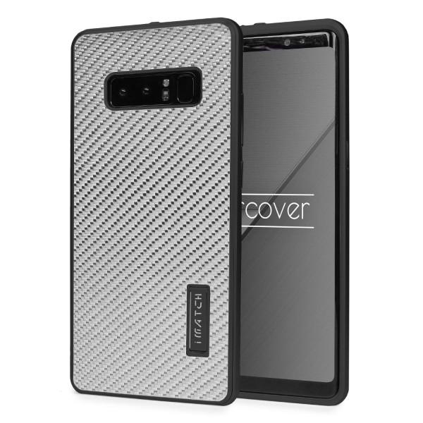 Samsung Galaxy Note 8 Echt Carbon Back Case Handy Schutz Hülle Bumper Aluminium