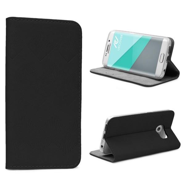 Urcover® Samsung Galaxy S6 Edge Plus Wallet Schutz Hülle Flip Case Cover Etui