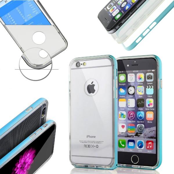 Urcover® Apple iPhone 6 / 6s Schutzhülle Alu Ecken Bumper Case Cover Schutz Hülle
