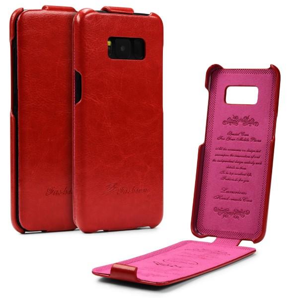 Samsung Galaxy S8 Plus Tasche Flip Case Cover Schutz Hülle Wallet Kunst-Leder