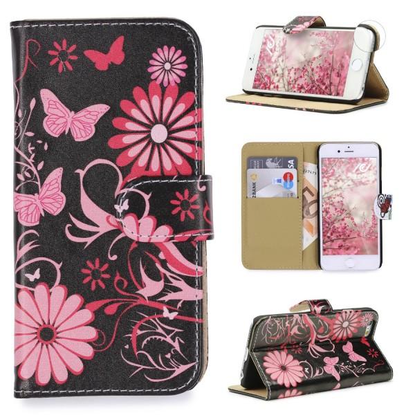 Urcover® Apple iPhone 5 / 5s / SE Design Wallet Kartenfach Schutz Hülle Cover