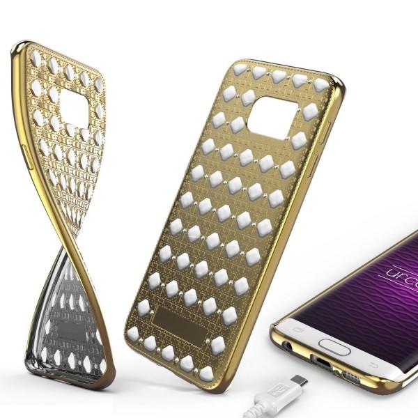 Urcover® Samsung Galaxy S6 Edge Silikon Back Case Oriental Cover Schutzhülle