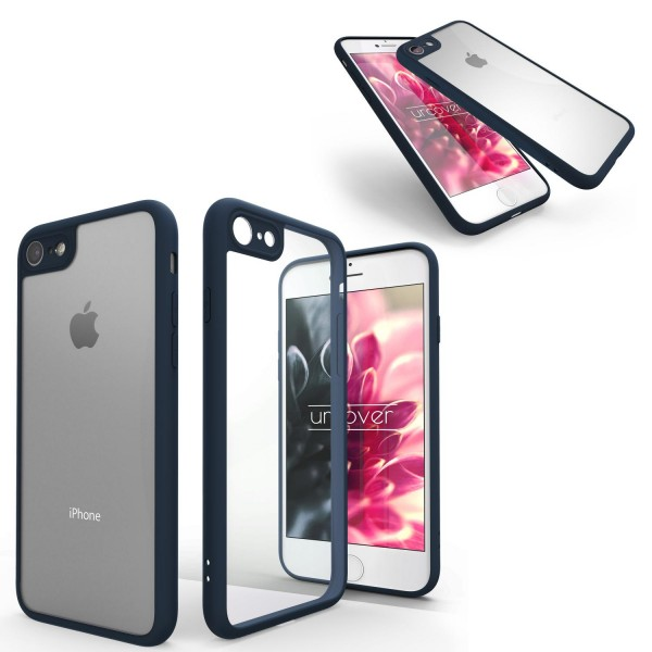Urcover® Apple iPhone 7 Simply Back Cover Schale farbiger Rand Handyhülle