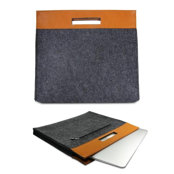 Urcover® Universal 15,4 Zoll Laptop Tasche Smart Case Cover Sleeve Grau/Beach