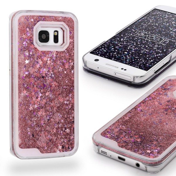 Samsung Galaxy S7 TPU Glitter Liquid Case Cover Schutz Hülle Trend Glitzer