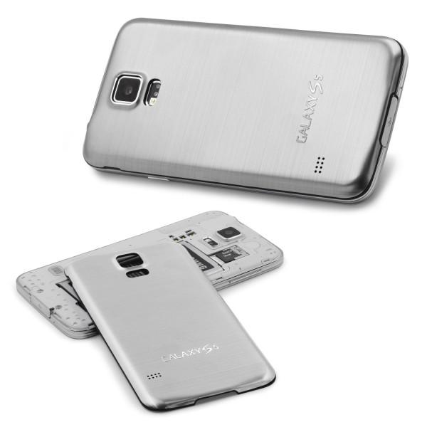 Samsung Galaxy S5 Original Urcover® Aluminium Akkudeckel Schutz Hülle Cover