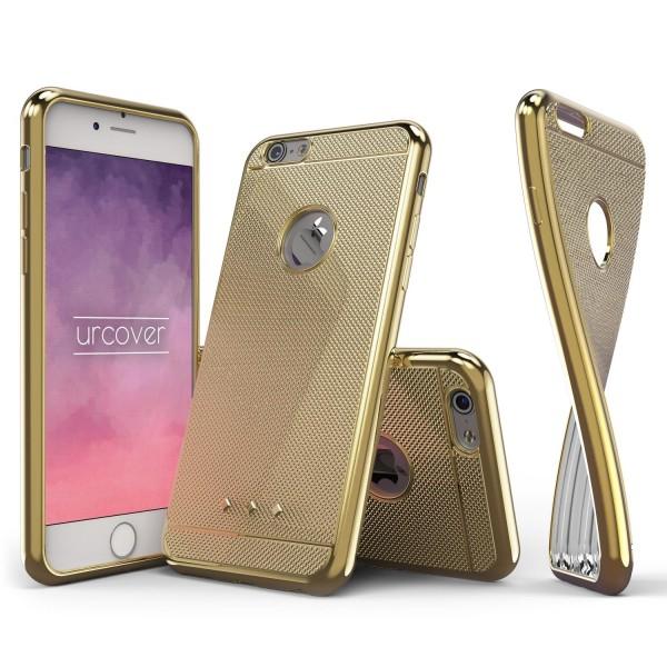 Urcover® Apple iPhone 6 / 6s Schutz Hülle Metall Optik Silikon Soft Back Case