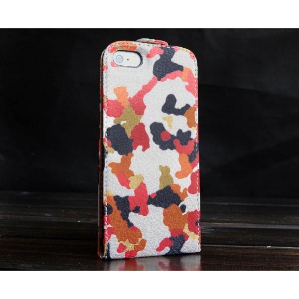 Urcover® Apple iPhone 5 / 5s / SE Kunststoff Schutzhülle Tarn Optik Case Cover