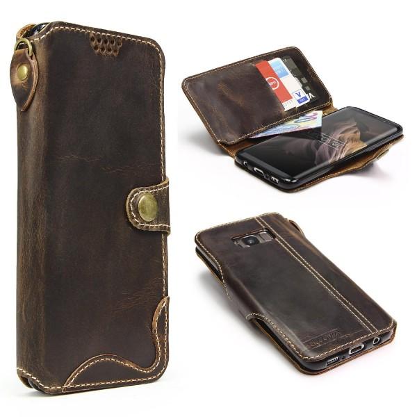Akira Samsung Galaxy S8 Echt Leder Smartphone Hülle Cover Case Handy Tasche Etui