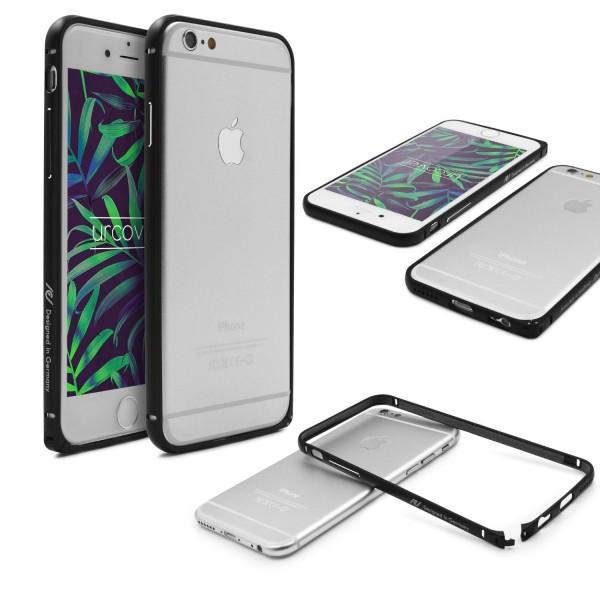 Original Vorson® Aluminium Bumper für das Apple iPhone 6 Handyhülle Alu Rahmen Schutzhülle Zubehör Hülle Schale Case Cover Klickverschluß Schwarz
