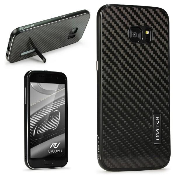 Samsung Galaxy S7 Edge Echt Carbon Bumper Case Cover Schutz Hülle Tasche