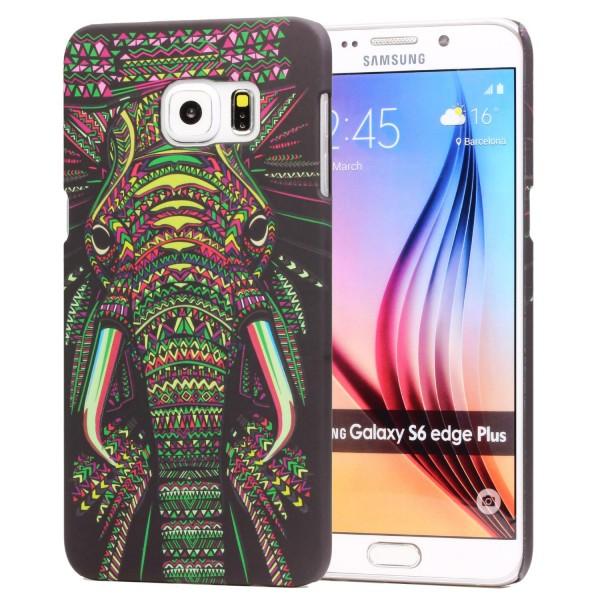 Urcover® Samsung Galaxy S6 Edge Plus Schutz Hülle Tier Muster Hard Back Case