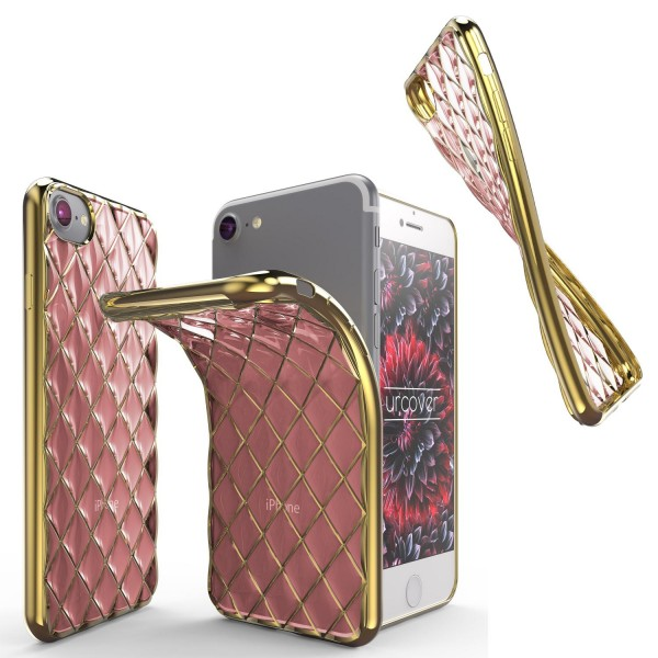 Urcover® Apple iPhone 7 Schutz Hülle Quilted Diamond Design Case Cover