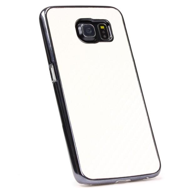 Urcover® Handy Schutz Hülle Samsung Galaxy S6 Carbon Optik Case Cover Slim Etui