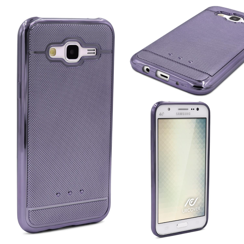 Urcover Samsung Galaxy J5 2015 Schutz Hülle Metall Optik Silikon Soft Case Backcase Galaxy J5 2015 Smartphone Samsung