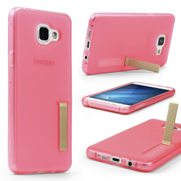 Urcover® Samsung Galaxy A3 (2016) Schutz Hülle mit Standfunktion Soft Case Cover