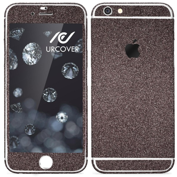 Apple iPhone 6 Plus / 6s Plus Glitzer Folie Aufkleben Regenbogen Diamond Bling
