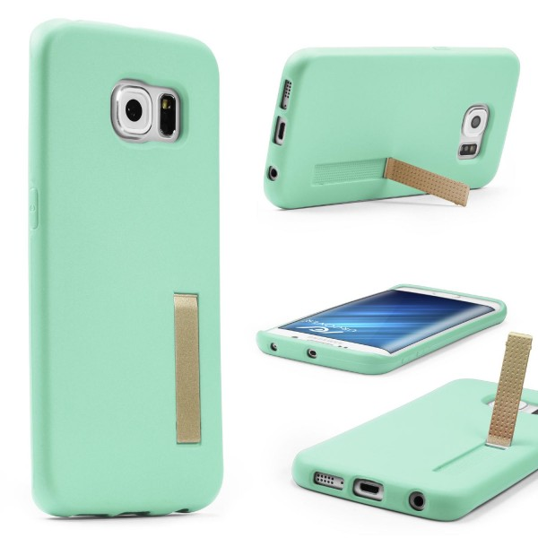 Urcover® Samsung Galaxy S6 Edge Schutz Hülle mit Standfunktion Soft Case Cover