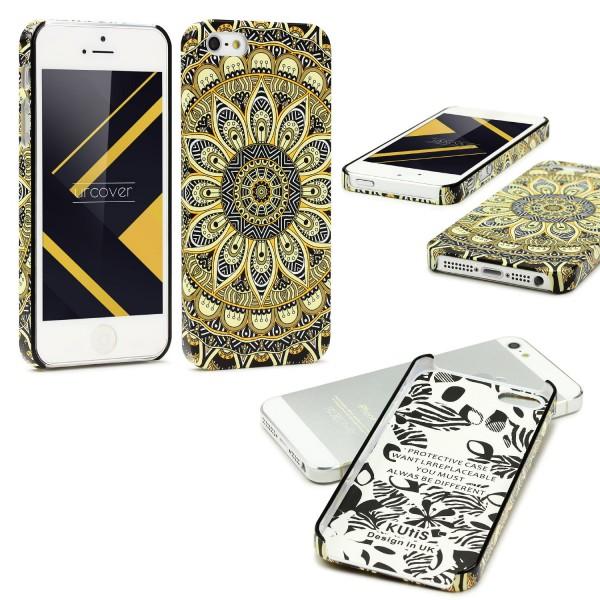 Urcover® Apple iPhone 5 / 5s / SE Mandala Schutz Hülle Back Case Cover Schale