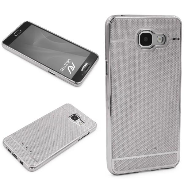 Urcover® Samsung Galaxy A7 (2016) Schutz Hülle Metall Optik Silikon Soft Case