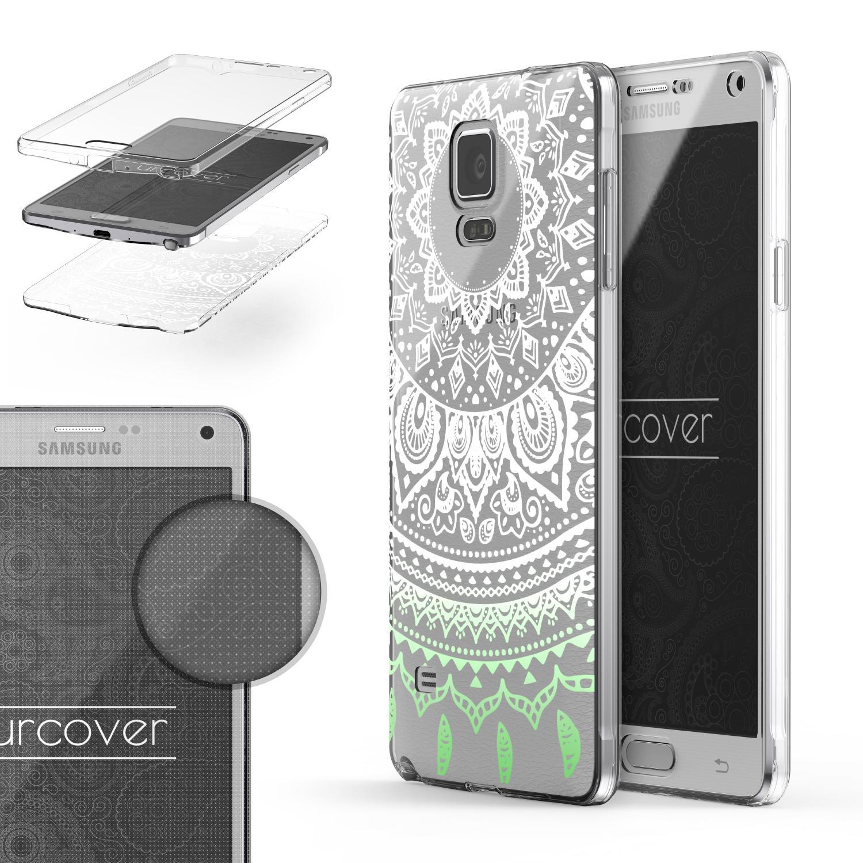 Samsung Galaxy Note 4 360 Grad Mandala Rücken Hülle Case Cover Rundum Schutz TPU 360 Grad Galaxy Note 4 Smartphone Samsung