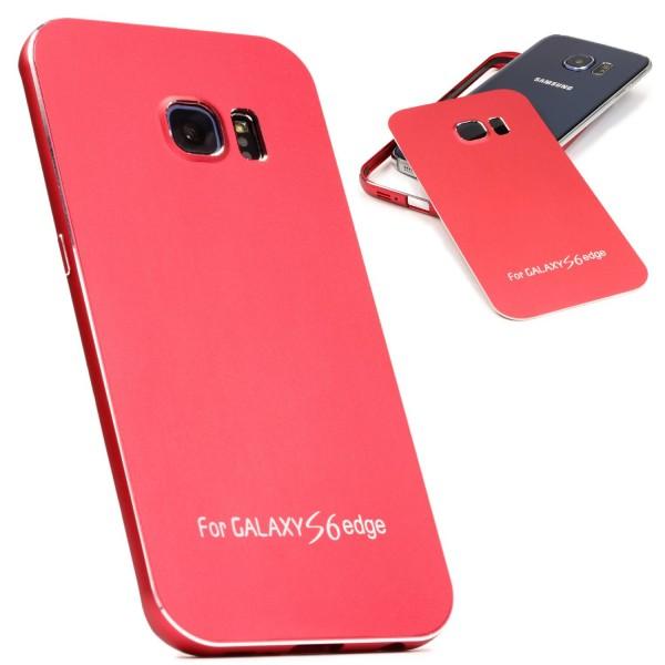 Urcover® Samsung Galaxy S6 Edge Alu Schutz Hülle Full Metal Case Cover Tasche