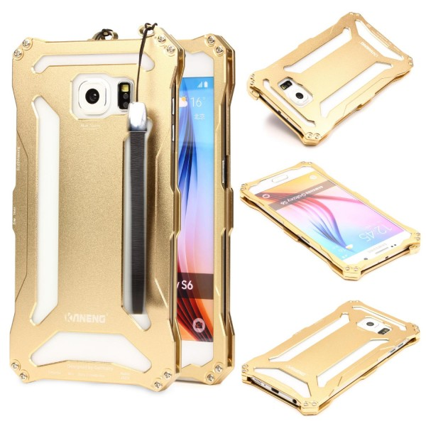 Kaneng Outdoor Handy Schutz Hülle für Samsung Galaxy S6 Alu Bumper Case Cover