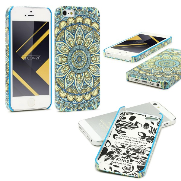 Urcover® Apple iPhone 5 / 5s / SE Mandala Schutz Hülle Back Case Cover Schale