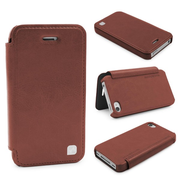 Urcover® Apple iPhone 4 / 4s Kunstleder Wallet Schutzhülle Flip Case Cover Etui
