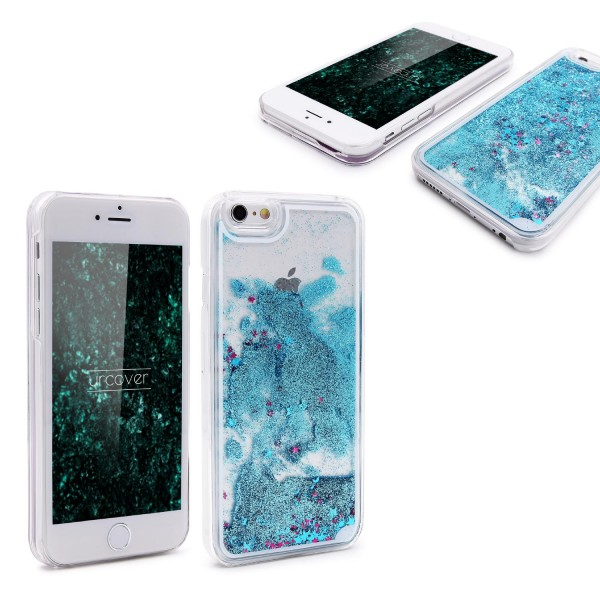Apple iPhone 6 Plus / 6s Plus TPU Glitter Liquid Case Cover Schutz Hülle Trend