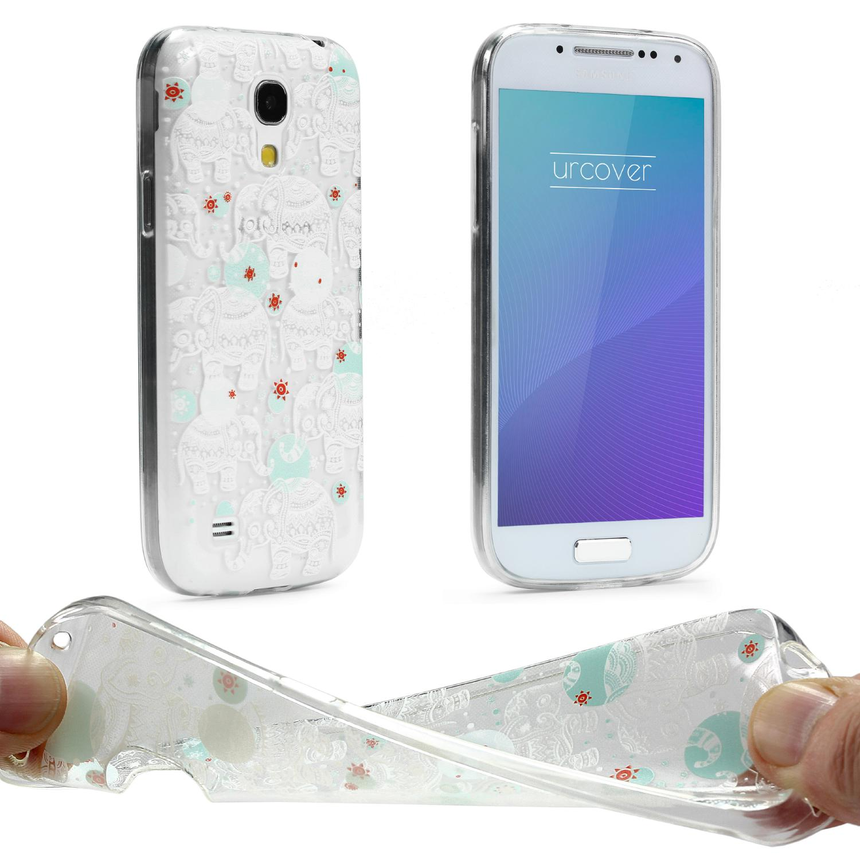 Urcover Samsung Galaxy S4 Mini Schutz Hülle Case Cover Tasche Silikon Soft Backcase Galaxy S4 Mini Smartphone Samsung