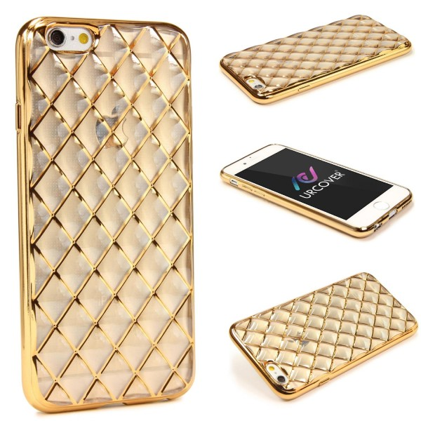 Urcover® Apple iPhone 6 Plus / 6s Plus Schutz Hülle Quilted Diamond Design Case