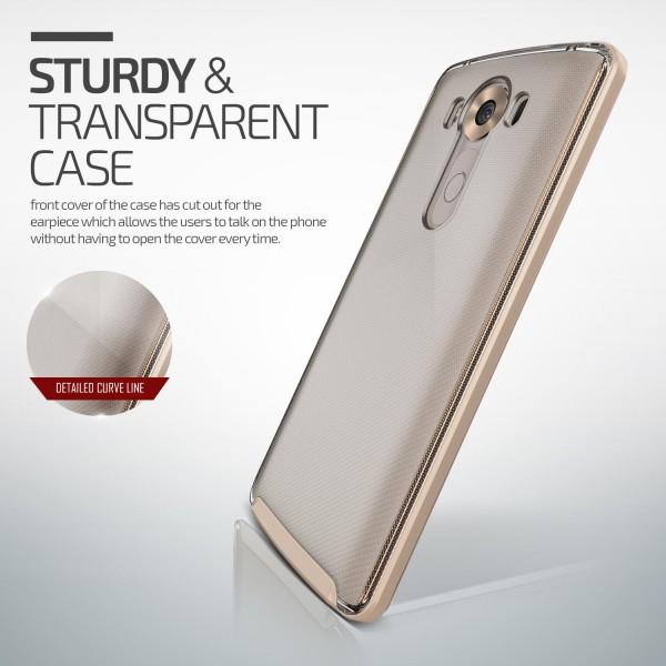 LG V10 Handy Schutz Hülle Case Crystal Bumper Slim Schale Cover Kameraschutz