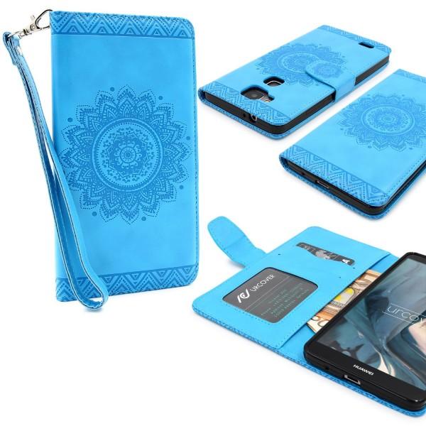 Huawei Mate 7 Wallet Klapp Schutz Hülle Stand Flip Case Cover Etui Schale Tasche