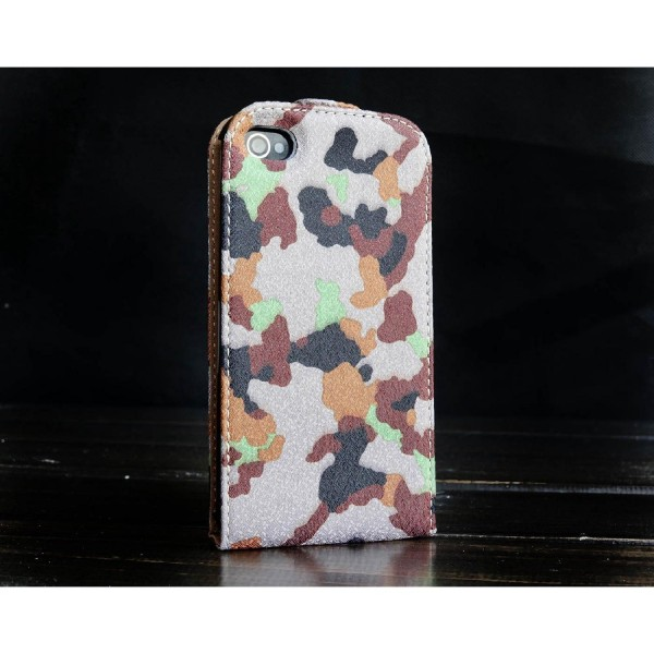 Urcover® Apple iPhone 4 / 4s Tarn Optik Schutz Hülle Case Cover Etui Flip Wallet