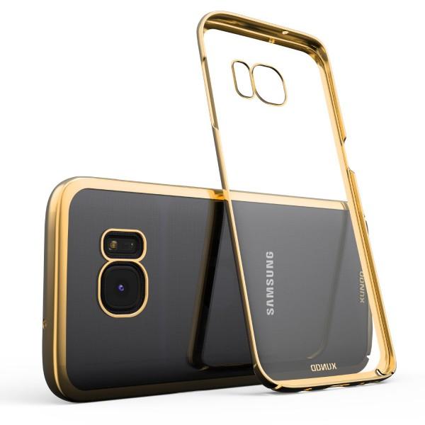 Urcover® Samsung Galaxy S7 Edge Kunststoff Soft Back Case Cover Klar Bumper Etui