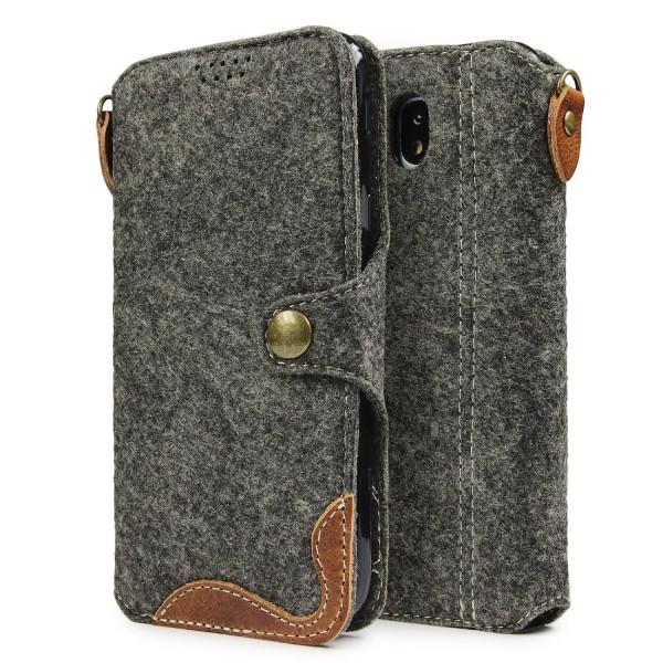 Samsung Galaxy J5 (2017) Filz Handyhülle Schutzhülle Case Cover Schale Wallet