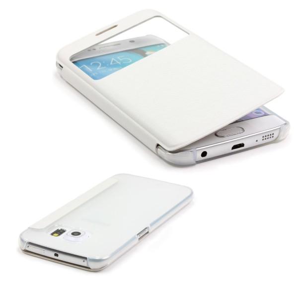 Samsung Galaxy S6 Edge Plus Case Sichtfenster Cover Handy Schutz Hülle Tasche