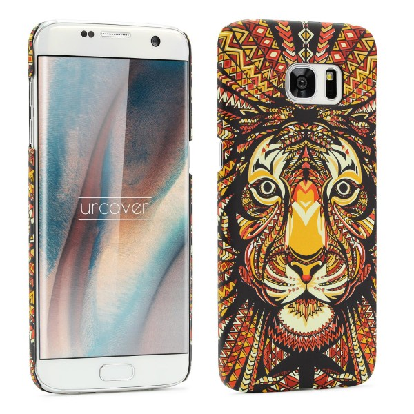 Urcover® Samsung Galaxy S7 Edge Schutz Hülle Tier Muster Hard Back Case Cover