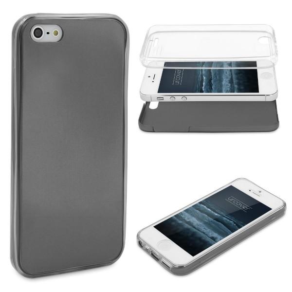Apple iPhone 5 / 5s / SE 360 GRAD RUNDUM SCHUTZ Metalloptik TPU Hülle Cover Case