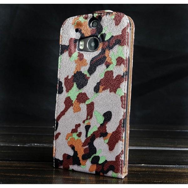 Urcover® HTC One M8 Tarn Optik Schutz Hülle Case Cover Etui Flip Wallet