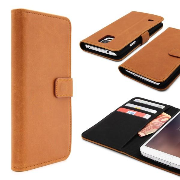 Urcover® Samsung Galaxy S5 Kunststoff Wallet Smartphone Cover Etui Schutz Case