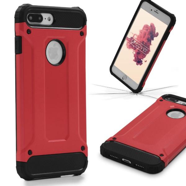 Apple iPhone 7 Plus OUTDOOR Schutz Hülle TOP Cover Backcase Carbon Optik Etui