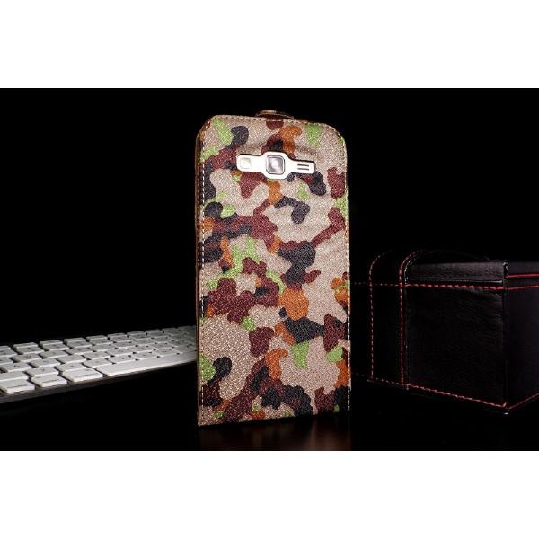 Urcover Samsung Galaxy Grand Duos 2 Tarn Optik Schutz Hülle Case Cover Etui Flip