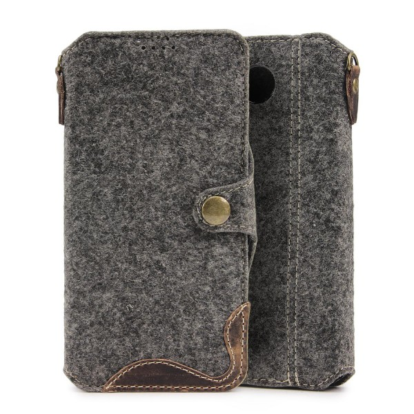 Urcover® Microsoft Lumia 650 Filz Wallet Handyhülle Aufklapp Cover Case Sleeve