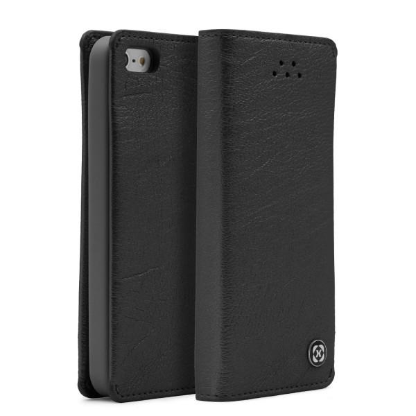 Urocver Apple iPhone 5 / 5s / SE Schutzhülle Kartenfach Cover Case Schale Wallet