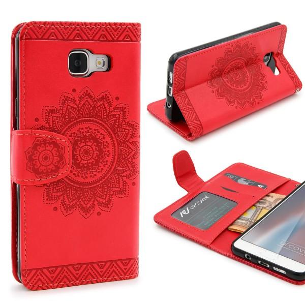 Samsung Galaxy A5 (2016) Wallet Klapp Schutz Hülle Stand Flip Case Cover Etui