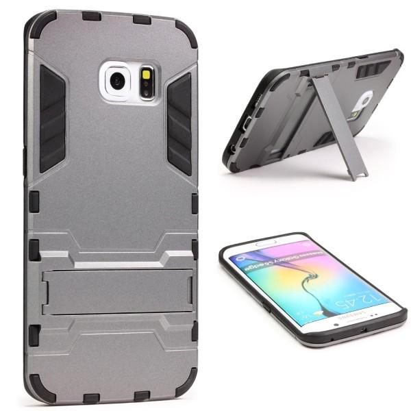 Urcover® Samsung Galaxy S6 Edge Schutz Hülle Case Cover Tasche Steel Series Etui